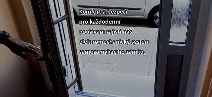 Samozamykací zámek - elektromechanický zámek s panikovou funkcí namontuje zámečnictví Glos Plzeň