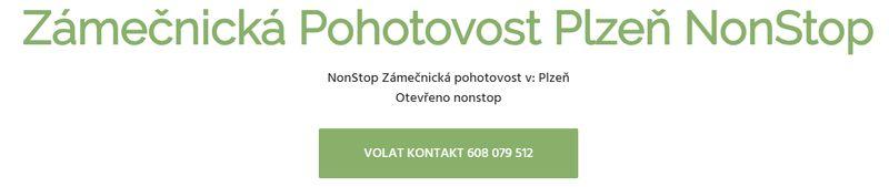 Zámečnická Pohotovost Plzeň NonStop