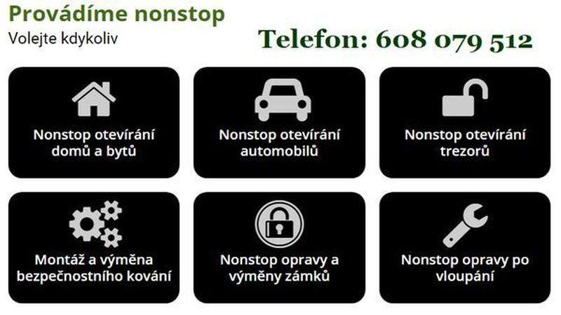 Zámečnictví Plzeň NonStop – zámečnické služby