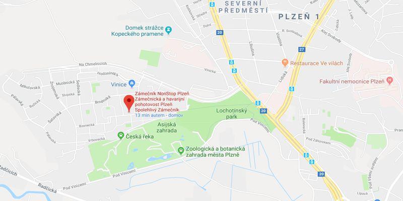 Zámečnictví Plzeň - kontakt - mapa - zámečník Dalibor Glos